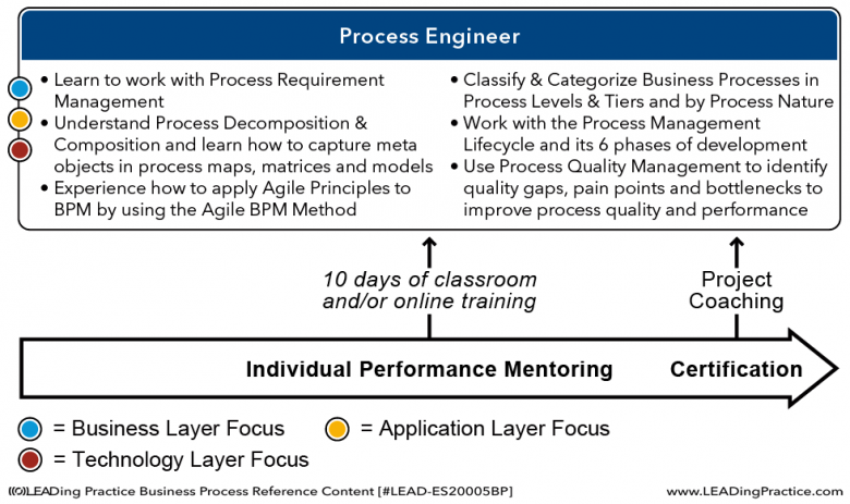 The Process Engineer learning model.